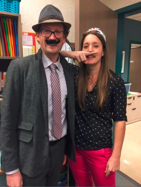 Staff joined students and dressed up for Gentlemen's Day on November 30th