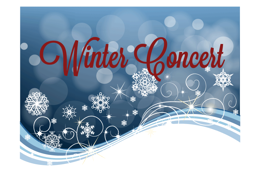 Winter Concert at 12:30pm and 6:00pm on December 13th and 14th. Check the schedule for details.