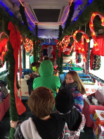 Santa Bus Visits PGE!